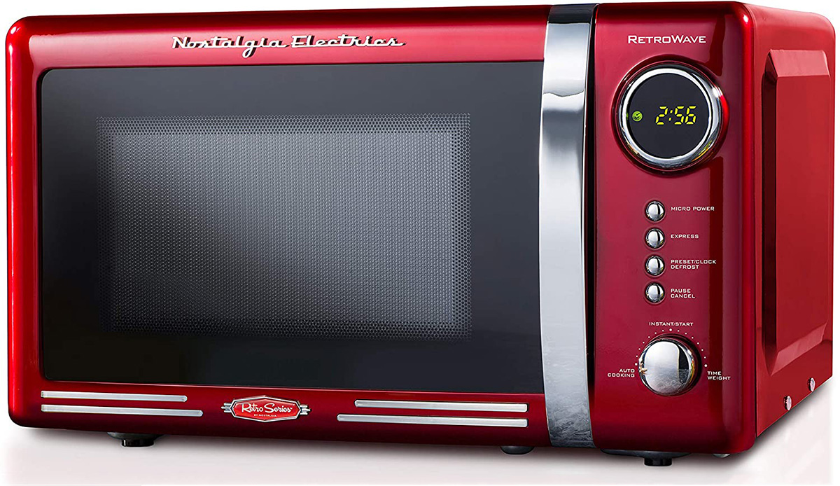Nostalgia RMO770RED Retro Microwave Oven Red