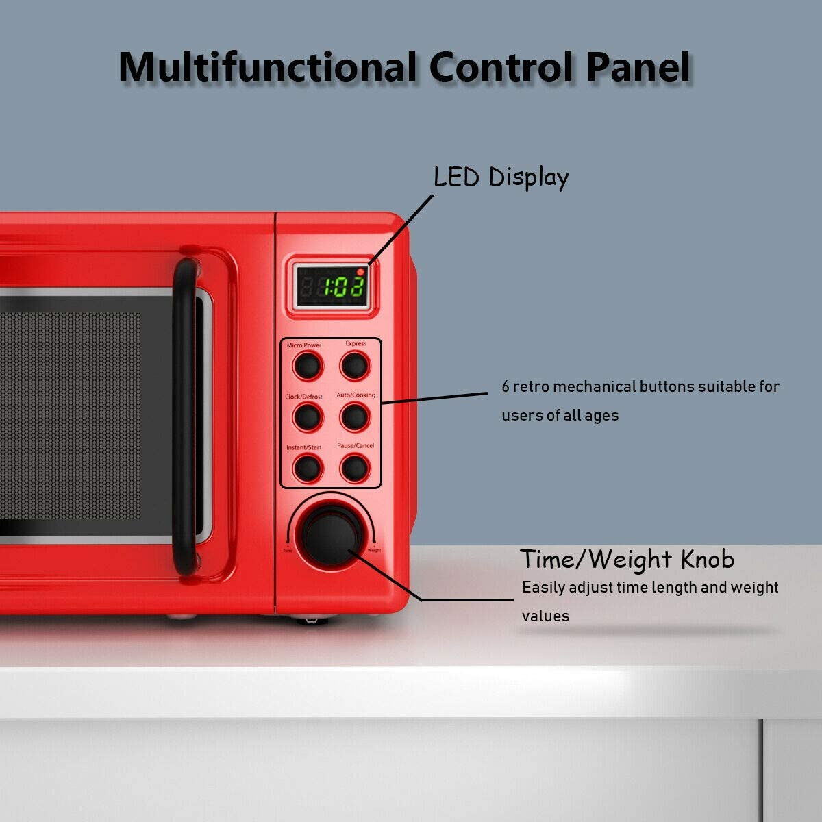 COSTWAY-Retro-Countertop-Microwave-Oven-Extra-Feature