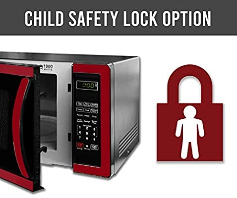 The child safety lock for the Farberware Classic Red Microwave Oven review Child Lock Options