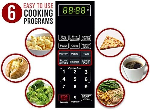The ease of use cooking program on the Farberware Classic Red Microwave Oven