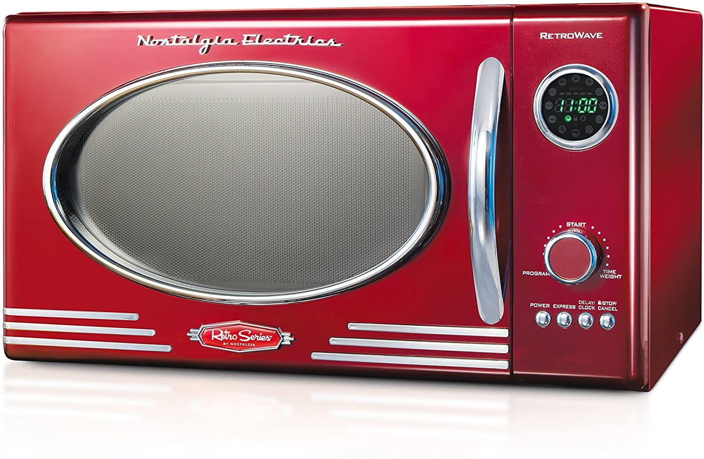 Nostalgia Retro Red Compact microwave