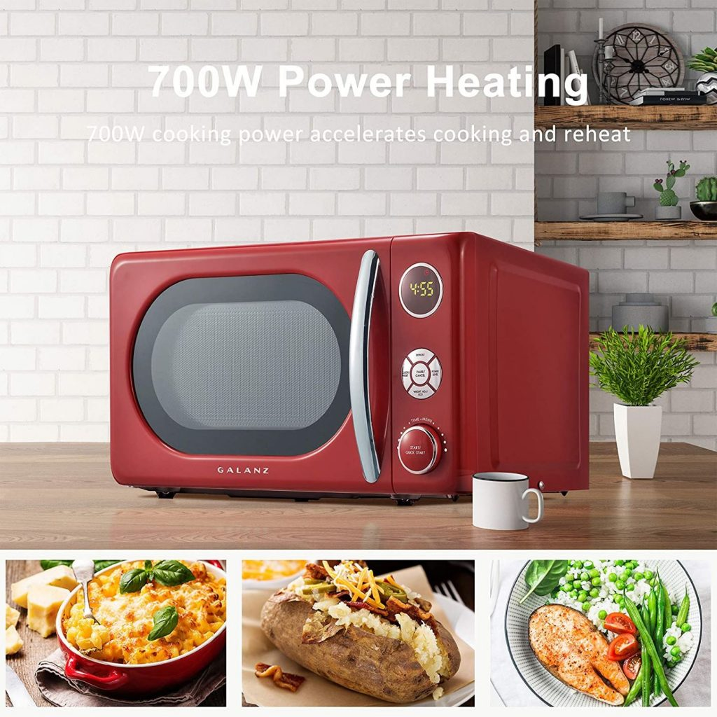 An image showing the cooking functionalities of the Galanz Microwave oven