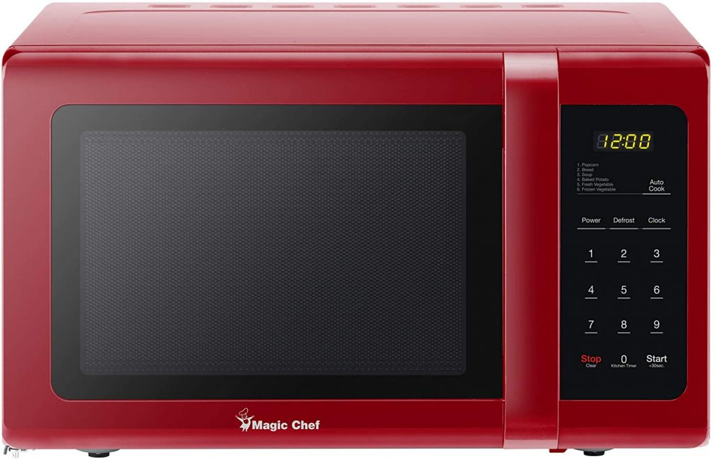 An image of a Magic Chef Red Microwave Oven